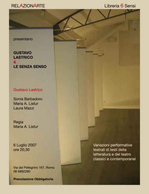 Gustavo Lastrico & Le Senza Senso - Locandina